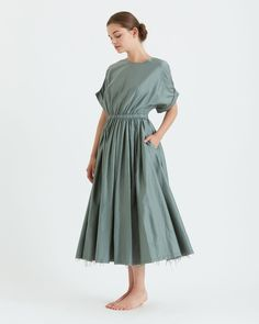 Pleated Dress / PD-04 / Dark Forest