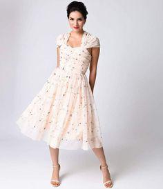 c9c4bd6e Unique Vintage Pink Embroidered Garden State Mesh Cocktail Dress- cheap  bridesmaid dress afflink Cheap Cocktail