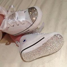 Now these are the only tennis shoes I would actually purchase!!! LOVE!!!! Bling Baby Shoes by CelebStatus on Etsy, $90.00