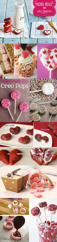 14 postres originales y muy sencillos de elaborar para este San valentín. Tu elije que prefieres preparar, hay desde chocolates, dulces, paletas, etc. Algunas son ideas bastante románticas