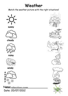 """Weather Worksheets for Kids. 20 Weather Worksheets for Kids. What S the Weather """" Printable Matching Worksheet Seasons Worksheets, Weather Worksheets, Free Kindergarten Worksheets, Science Worksheets, Kindergarten Science, Printable Worksheets, Tracing Worksheets, Kids Worksheets, Calendar Worksheets"""