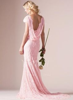 2016 Blush Pink Mermaid Wedding Dresses Full Lace Scoop Neck Court Train Backless Wedding Gowns Plus Size Bridal Gowns Style Wedding Dresses V Neck Mermaid Wedding Dress From Gonewithwind, $170.86| Dhgate.Com