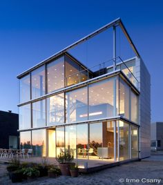 Glasshouse® met zicht op de natuur, glazen veranda, KELLER minimal windows®