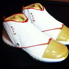 "01108aacb53 Ray Allen ""PE"" Air Jordan XVI Allen Shoes"
