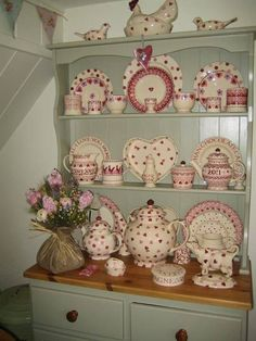 Emma Bridgewater Pink Hearts on display