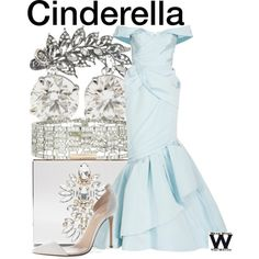 Cinderella by wearwhatyouwatch on Polyvore featuring Andrew Gn, Gianvito Rossi, Forever New, Aéropostale, disney, wearwhatyouwatch and film