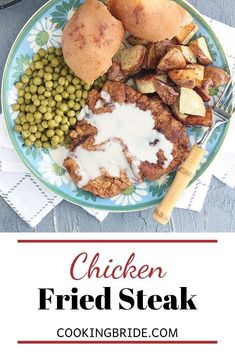 Country fried steak is a Southern classic. Tenderized steak cutlets are double battered and breaded, the fried until golden brown. Beef Cubed Steak, Chicken Fried Steak, Southern Food, Southern Recipes, Meal Recipes, Quick Recipes, Steak Wraps, Leftover Steak, Quick Easy Dinner