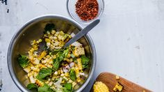 This corn salad helps answer that age-old question: Would it really be a barbecue without grilled corn? This corn salad helps answer that age-old question: Would it really be a barbecue without grilled corn? Corn Salad Recipes, Summer Salad Recipes, Corn Salads, Summer Salads, Veggie Recipes, Vegetarian Recipes, Healthy Recipes, Mint Recipes, Herb Recipes