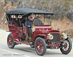 The 2014 Pebble Beach Tour d'Elegance: The Tour this year in addition to taking a lap of Mazda Raceway Laguna Seca drove down the picturesque Cabrillo Highway to Big Sur and returned to Carmel. This 1908 48-h.p. Daimler is in our coverage today featuring photos by Steve Natale at: http://theoldmotor.com/?p=125625