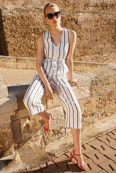 Buy Phase Eight Ivory/Navy Jennie Stripe Jumpsuit from the Next UK online shop