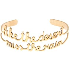 Vanina SAY IT DIFFERENTLY LIKE DESERT RAIN ADJUSTABLE BRACELET ($65) ❤ liked on Polyvore featuring jewelry, bracelets, gold, jewelry bracelets, gold bangles, adjustable bangles, gold jewelry, yellow gold jewelry and gold jewellery