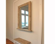 Rustic wall mirror from original Sylt bridge wood by mashupdesign _______________________ #furniture #wood #decor #homedecor #handmade #decoration #etsy #dawanda #möbel #Holz #bauholz #handgemacht #diy #christmas #present #upcyclingwood #upcycling #wohnen #dekoration #wohnaccessiores #vintage #retro #midcentury #mashup #design #hamburg