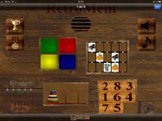Fyra klassiska minnesspel i ett