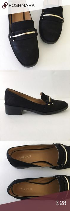 Nine West Loafers Nine West chasin nubuck slip-on loafers. There are a few spots but otherwise in very good condition. Almost no wear.   ⭐️10% off 2+ bundle  ⭐️Size 8 1/2  ⭐️Smoke free home Nine West Shoes Flats & Loafers