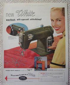 WHITE SEWING MACHINE VINTAGE 1952 ADS   eBay