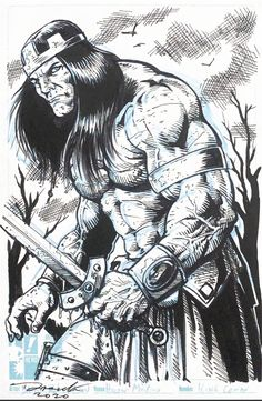 King Conan Comic Art