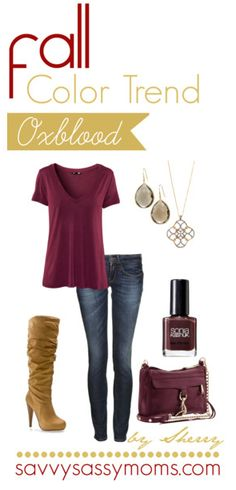 #FashionFriday Fall Color Trend {Oxblood} | Savvy Sassy Moms