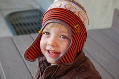 Upcycled boy hats...