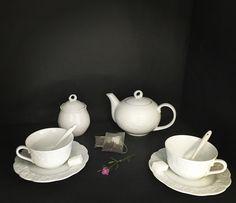 Service à thé en porcelaine de Limoges motif lierre sauvage #coffee #thé #recette #cups #porcelaine #tea