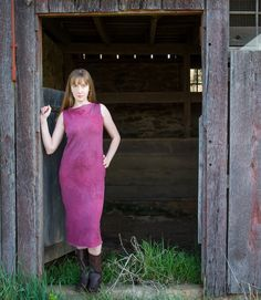 Hemp Cowl Dress by OneRoomFibers on Etsy, $75.00