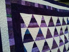 NewPURPLE and White MODERN Handmade QUILT by QuiltsByTaylorDesign