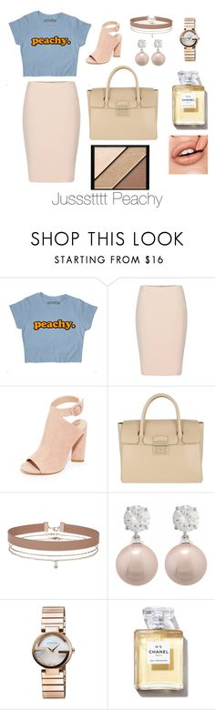 """Jussstttt Peachy"" by lydiagrayyoung on Polyvore featuring Kendall + Kylie, Furla, Miss Selfridge, Jankuo, Gucci and Elizabeth Arden"