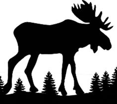 Silhouette of Moose in the mountain woods steel plate decoration can modify size ** In RL these are popular business signs used outdoors and qui. Moose Silhouette, Silhouette Clip Art, Animal Silhouette, Silhouette Images, Moose Decor, Moose Art, Wood Steel, String Art, Line Drawing