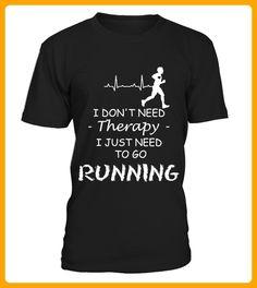 Laufen ist die beste Therapy - Läufer shirts (*Partner-Link)