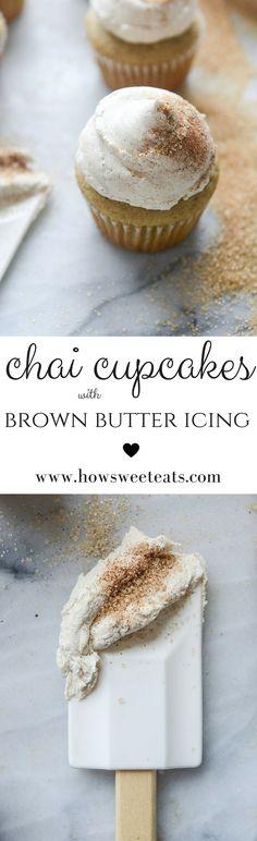 Chai Cupcakes by @howsweeteats I howsweeteats.com