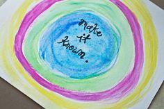 Get Messy | an art journal challenge