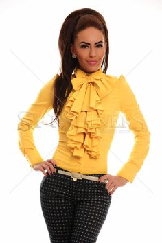 PrettyGirl Frill Guts Yellow Shirt