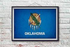 Oklahoma Flag Print Oklahoma Poster Oklahoma by PixelPerfect12