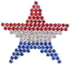 """MEMORIAL INDEPENDENCE DAY UNITED STATES USA PATRIOTIC FLAG STAR PIN BROOCH 1.75""""…"""