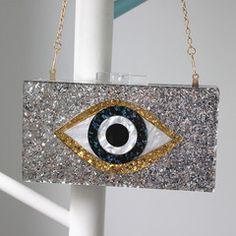 包包2016新款钱包斜挎包眼睛亮片亚克力手拿包单肩斜跨晚宴包