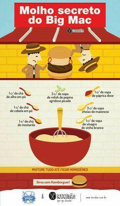 Receita ilustrada Molho especial do Big Mac Food N, Diy Food, Food And Drink, Big Mac, Tasty, Yummy Food, Food Truck, Love Food, Easy Meals