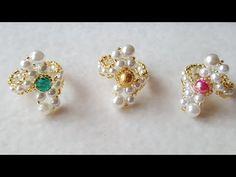 How to make pearl earrings | DIY pearl earrings| make pearl bridal earrings - YouTube