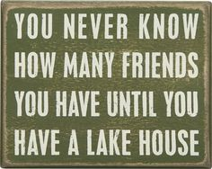 Item # 21106 | Box Sign - Lake House | Primitives by Kathy