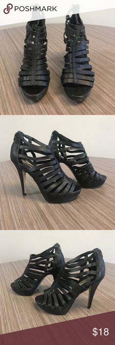 e9b89288f89 Steve Madden Nusance Black Leather Steve Madden size 8....gently used.