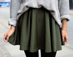 Skater skirt: for those days I actually do want to wear a skirt. Much cozier than a pencil skirt, and cute too. Also emphasizes your natural waist, making it look smaller.