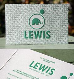 letterpers_letterpress_geboortekaartje_Lewis_olifantje_ballon_patroon_groen_lief_jongetje_meisje_ue