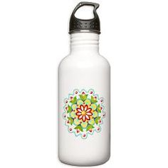 Kristofer's Mandala Stainless Water Bottle 1.0L  by Patricia Shea Designs - for the month of April 10% of retail price goes to #AutismAwareness charities through #CafePress