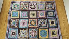 Nuts about squares blanket
