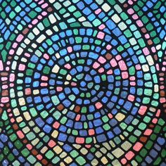 Shop GILA 36-in W x 78-in L Multi-Colored Mosaic Privacy/Decorative Static Cling Window Film at Lowes.com