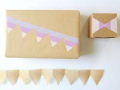 Washi Tape Bunting Gift Wrap | Creature Comforts