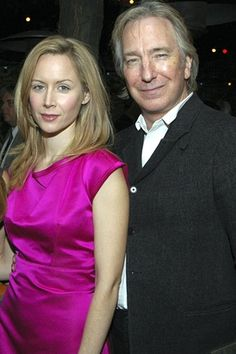 Megan Dodds and Rickman at the New York premiere of My Name Is Rachel Corri.