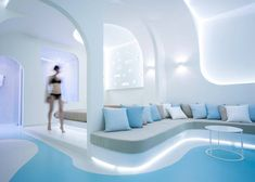 Smoothy & Curved Interior Design for a Hotel in Santorini – Fubiz Media