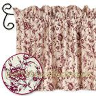Alyssa's Garden Valance -soft pink/red rose pattern : perfect Toile fabric for kitchen, bathroom or living room topper