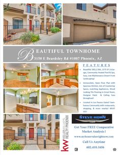 🏡Just Listed in Phoenix Los Paseos Townhomes! 🏠 Come By Our Open House 🏚️ Saturday, May