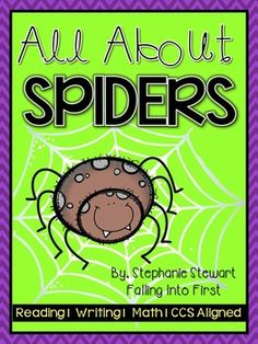 Spiders Non-Fiction unit. Comes with close reading passages, leveled guided reading books, writing, crafts, and graphing activites! I love all the real pictures!!