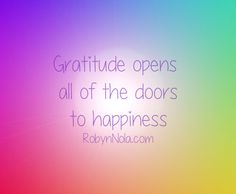 Gratitude opens all of the doors to happiness. #grateful #positive #affirmations…